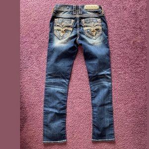 Rock Revival Rain Mid Rise Stretch women jeans 26